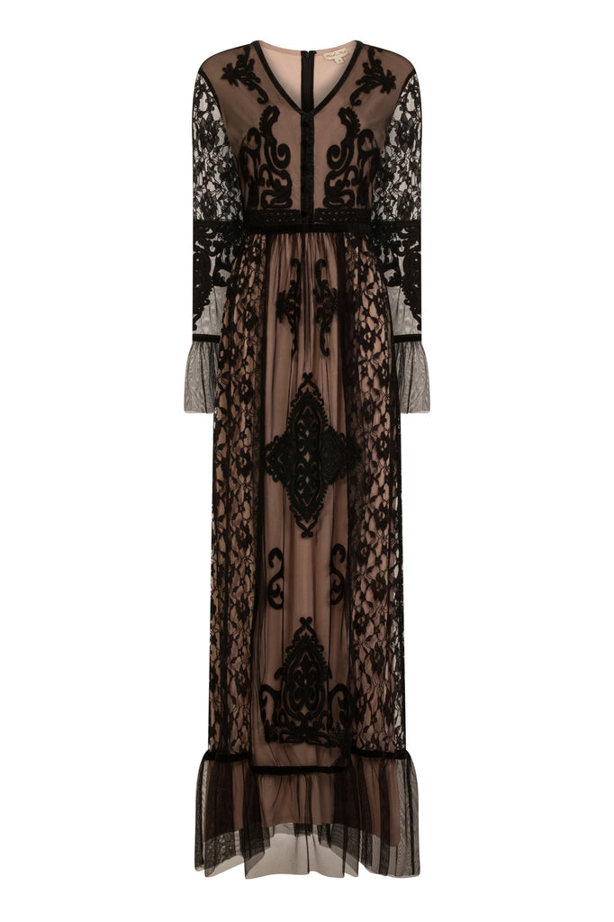 Fosetta Mesh And Lace Maxi Dress