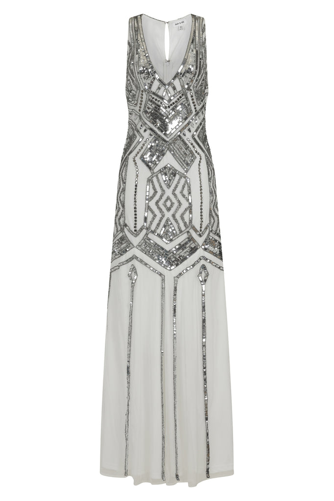 Gilda V-Neck Embellished Maxi Dress