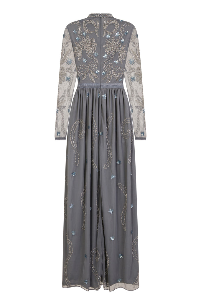 Dania High Neck Embellished Maxi