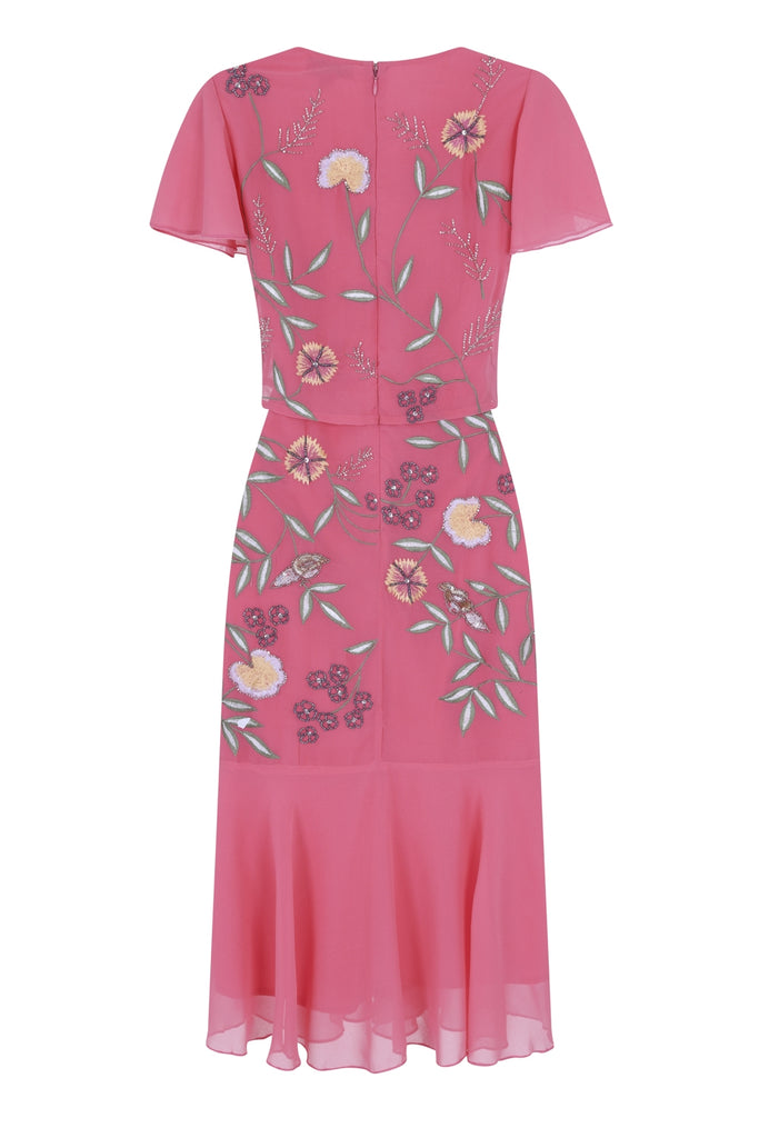 Gemma Double Layer Floral Embroidered Dress