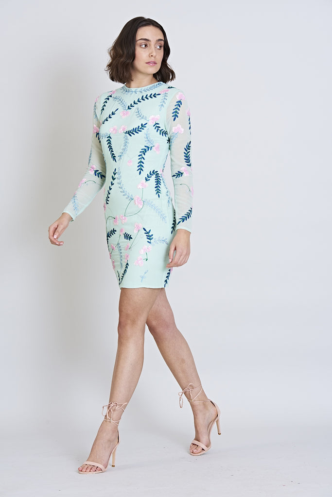 Geneva Long Sleeve Bodycon Dress