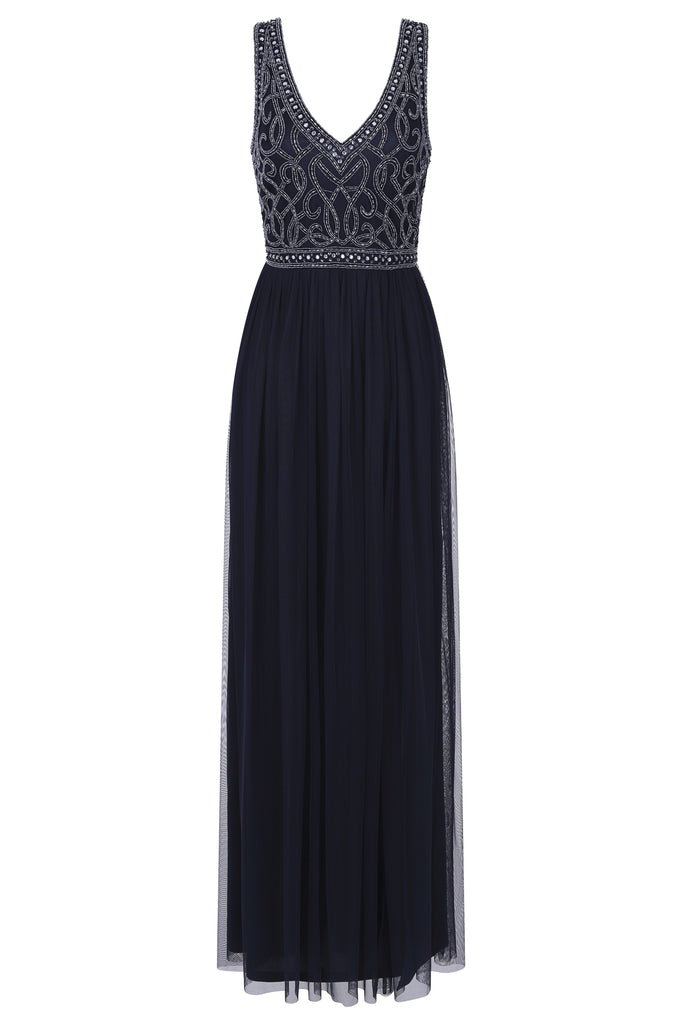 Flavia Embellished Bodice Maxi Dress