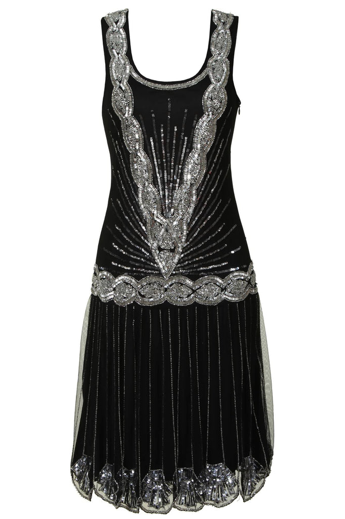 Zelda Flapper Dress Black