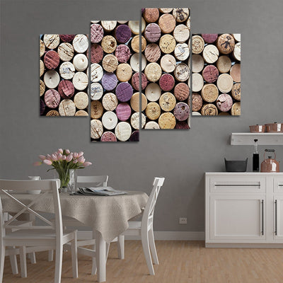 art with wine corks wall art set of 4