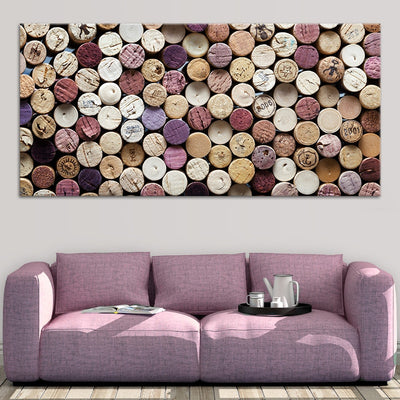 wine corks art canvas wall art large