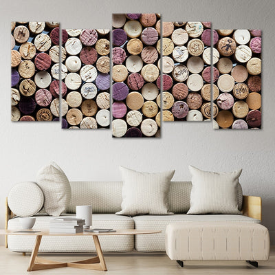 art with wine corks 5 piece wall art