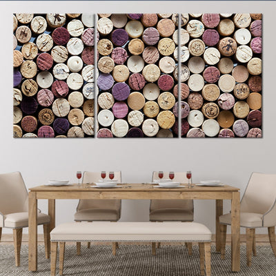 wine corks art 3 piece wall art