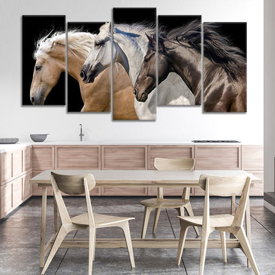 Wild Horse Team canvas wall art