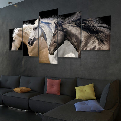 Wild Horse Team wall canvas
