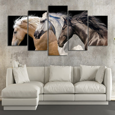 Wild Horse Team large wall art