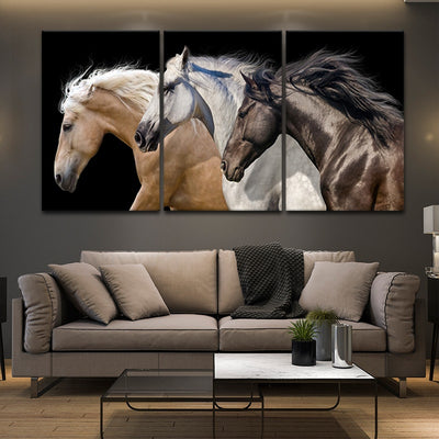 Wild Horse Team framed wall art