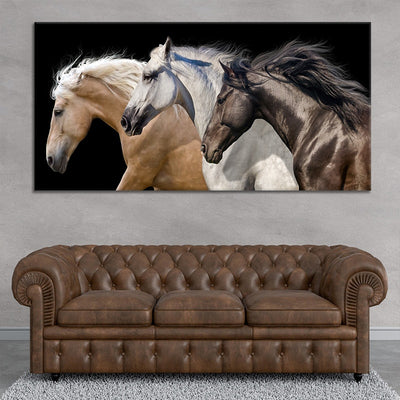 Wild Horse Team multi panel canvas wall art
