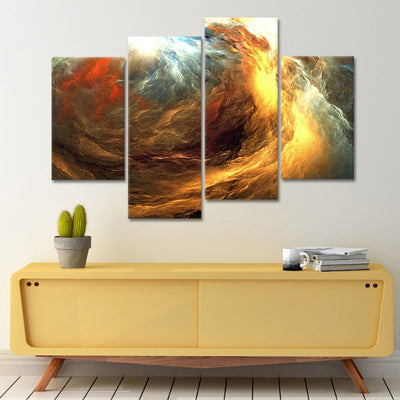 Abstract Storm wall art set of 4