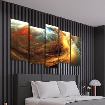 abastract storm 5 piece canvas art