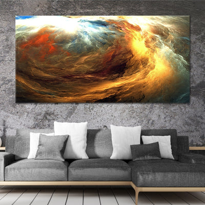 Abstract Storm canvas wall art large