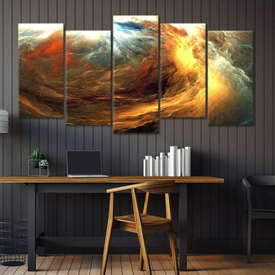 abstract storm 5 piece canvas art