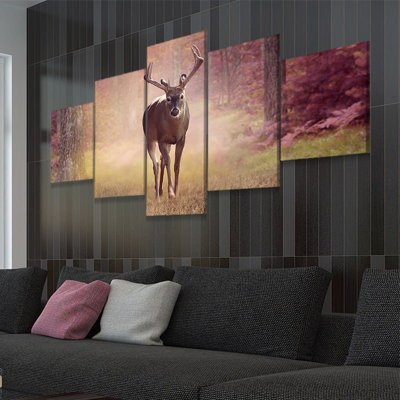 Autumn Deer 5 piece canvas prints
