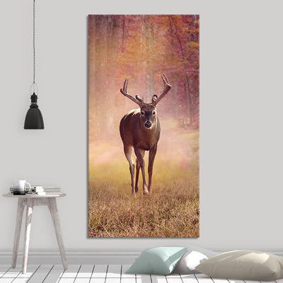 Autumn White Tail Deer canvas wall art large