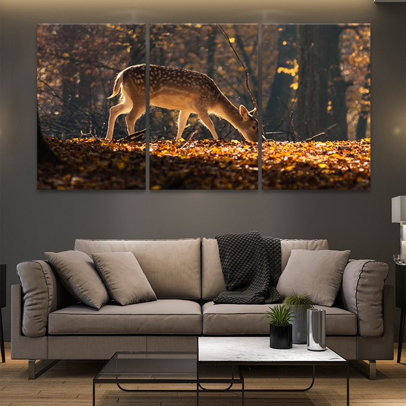 Baby White Tail Deer multi panel canvas wall art