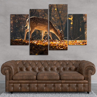 Baby White Tail Deer Canvas wall art