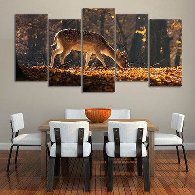 Baby White tail deer Custom canvas prints