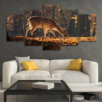 Baby White tail deer canvas prints online