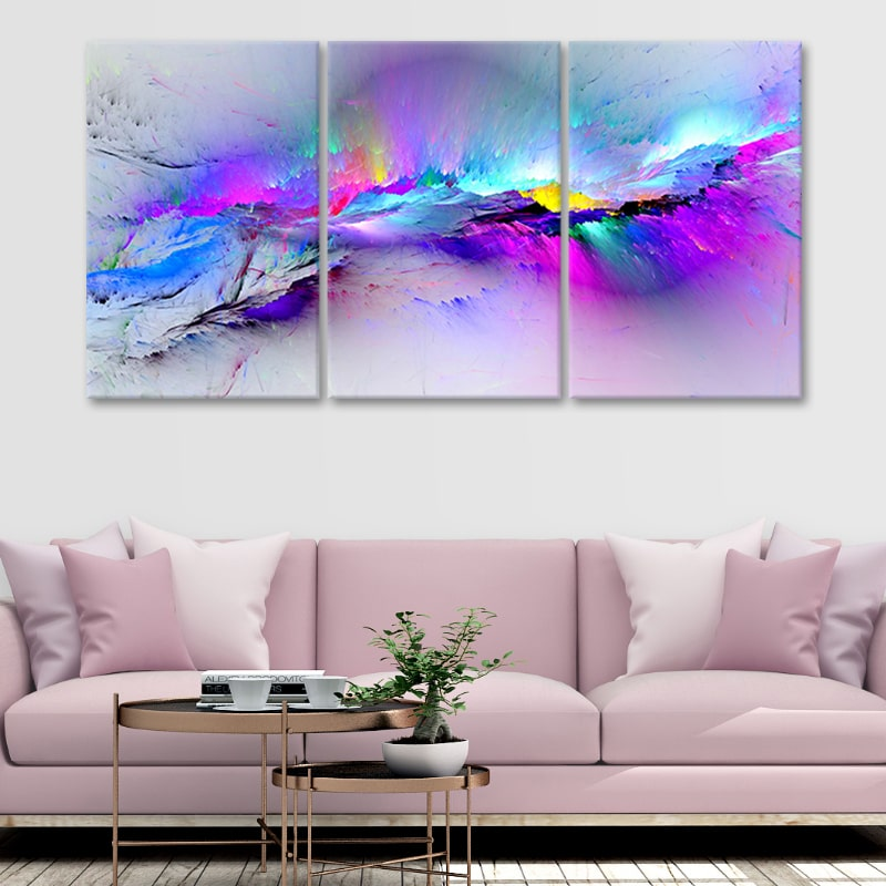 Abstract Colorful Fancy Paint 4 piece canvas set