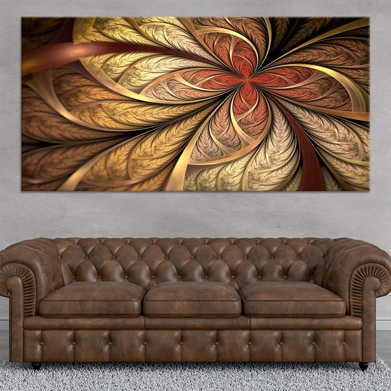 Fractal Flower Art Canvas Wall Art
