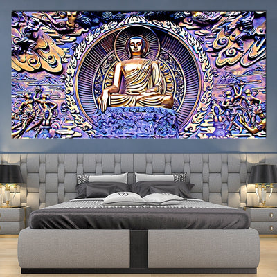 Gautama Buddha canvas wall art large