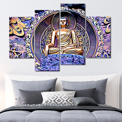Gautama Buddha wall art set of 4