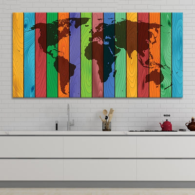 decorative map of the world