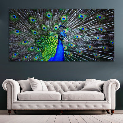 one piece Peacock Multi Panel Canvas Wall Art