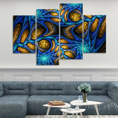 Psychedelic Abstract Fractal  wall art set of 4