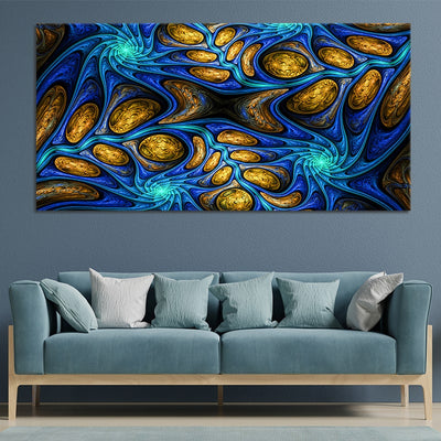 Psychedelic Abstract Fractal  canvas wall art large