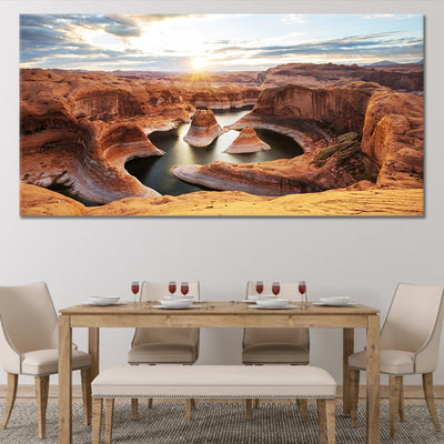 Reflection Canyon Lake Powell Canvas Wall Art