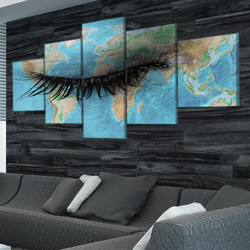 The Eye Of The World Multi Panel Canvas Wall Art