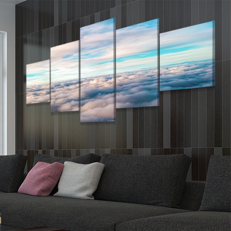 Above The Clouds 5 piece canvas wall art