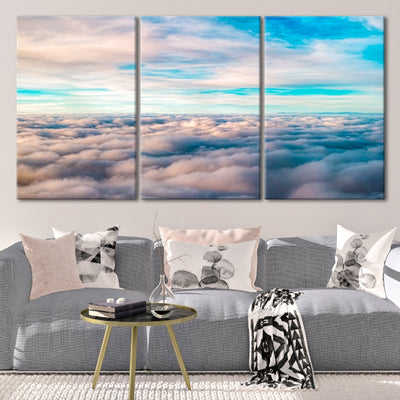 Above The Clouds 3 piece wall art