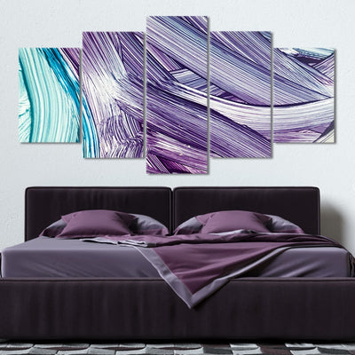 Abstract Brush Strokes Canvas Wall Art