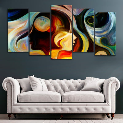 Abstract Colorful Mind canvas all art
