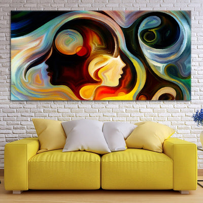 Abstract Colorful Mind wall canvas