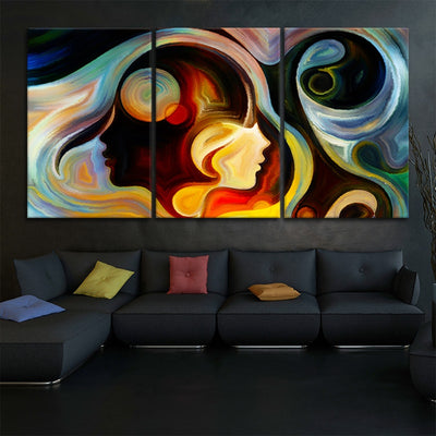 Abstract Colorful Mind large wall art