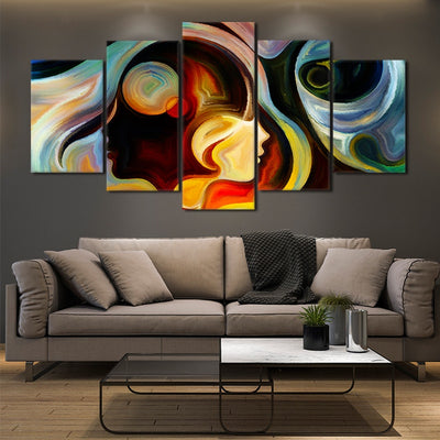 Abstract Colorful Mind canvas prints online
