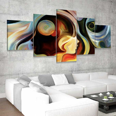 Abstract Colorful Mind framed wall art