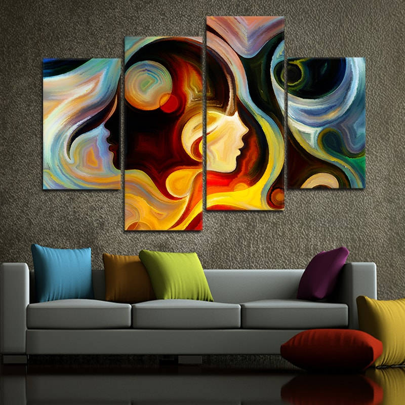 Abstract Colorful Mind split canvas art