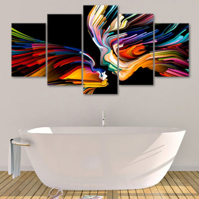 Abstract Love Multi Panel Canvas Wall Art