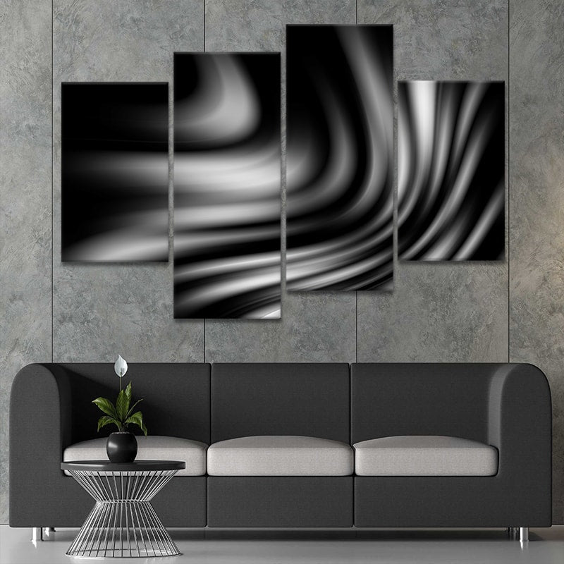 Abstract Wave Multi Panel Canvas Wall Art