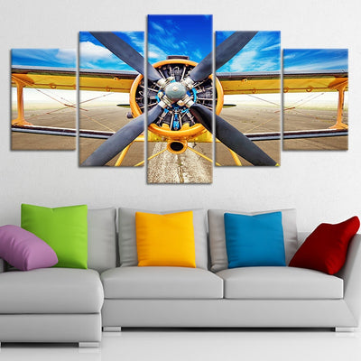 Aerobatic Aircraft Multi Panel Canvas Wall Art