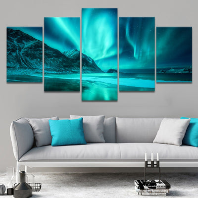 Alaska Northern Lights Canvas Wall Art