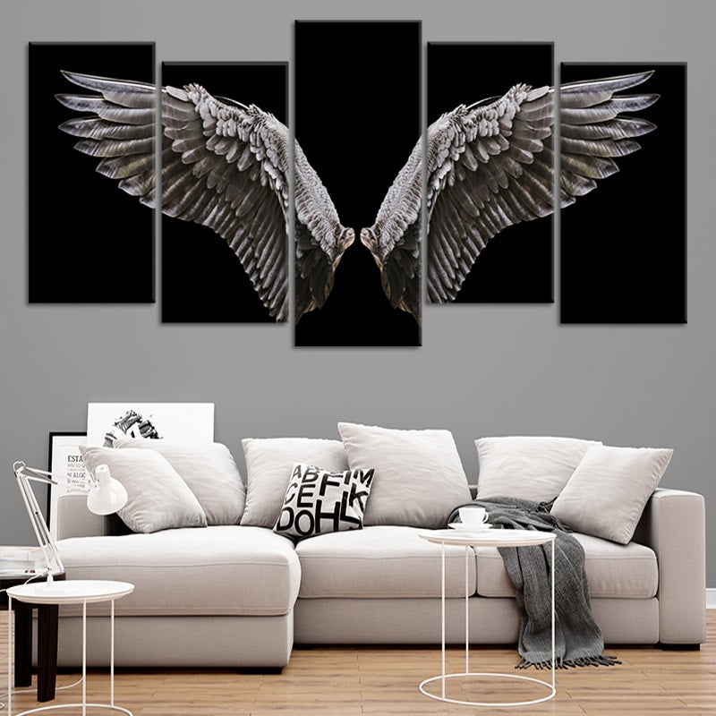 Angel Wings Multi Panel Canvas Wall Art
